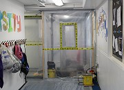 Asbestos removal works at primary school in Sheffield during the school holidays
