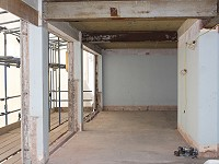 Internal building fargate after windows removed