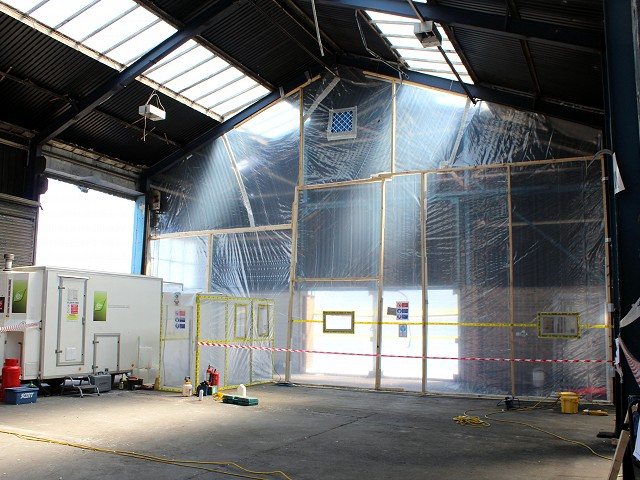 Asbestos Removal works at Trafford Park, Manchester